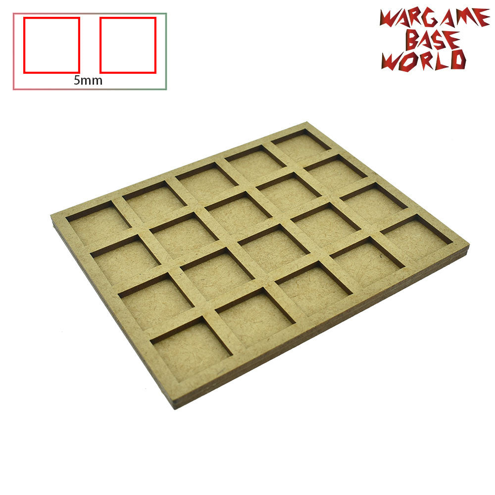 Movement Tray - 20mm square bases- 20 Models - WargameBase Store