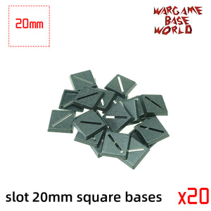Lot of 20mm square slot bases Miniature square bases for warhammer