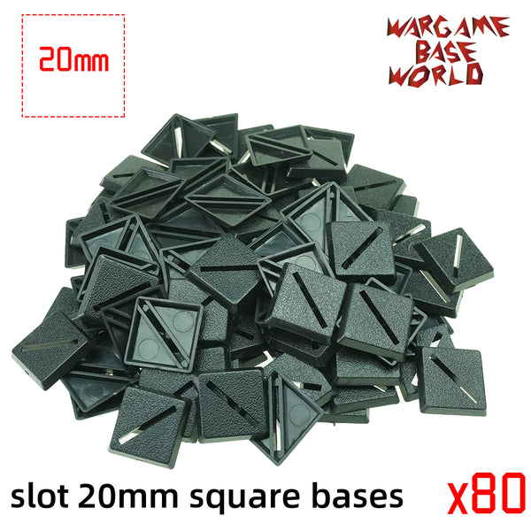 warhammer bases - Lot of 20mm square slot bases Miniature square bases for warhammer - Plastic wargame bases - WargameBase Store