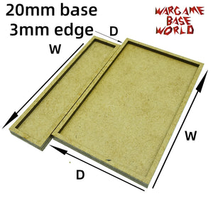 20mm bases with 3mm edge - MDF wargame Movement Tray - WargameBase Store