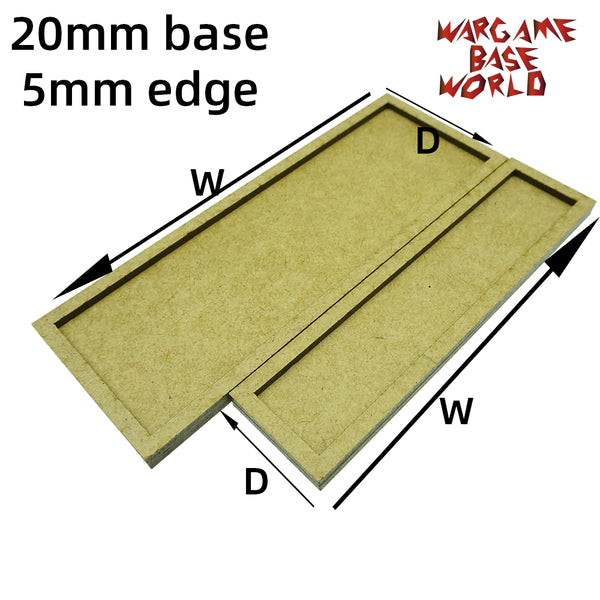 warhammer bases - 20mm bases with 5mm edge - MDF wargame Movement Tray - movement tray - WargameBase Store