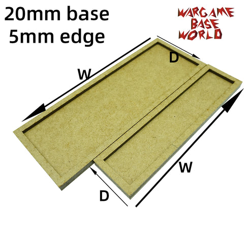 20mm bases with 5mm edge - MDF wargame Movement Tray