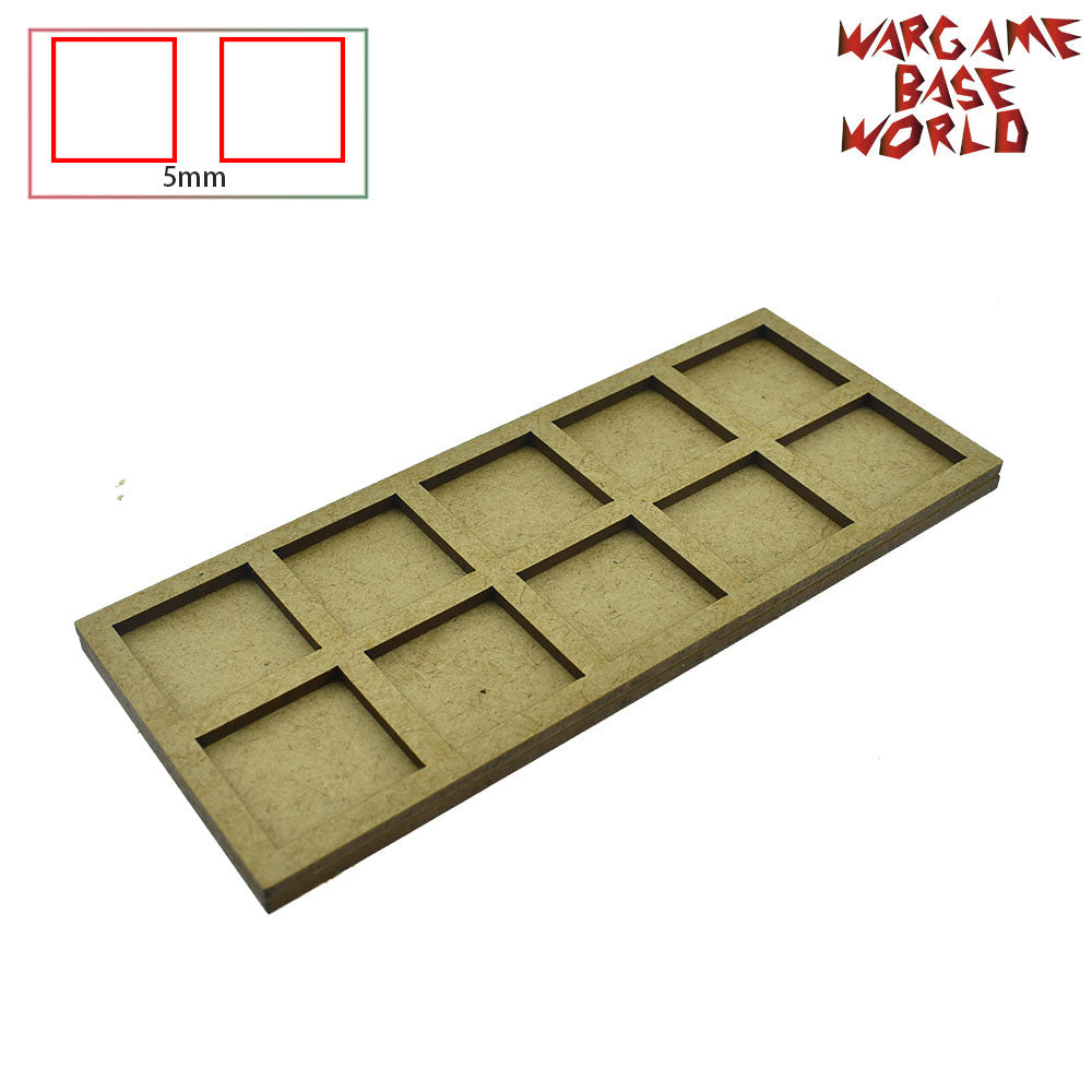 Movement Tray for warhammer - 25mm square bases- 10 Models - WargameBase Store