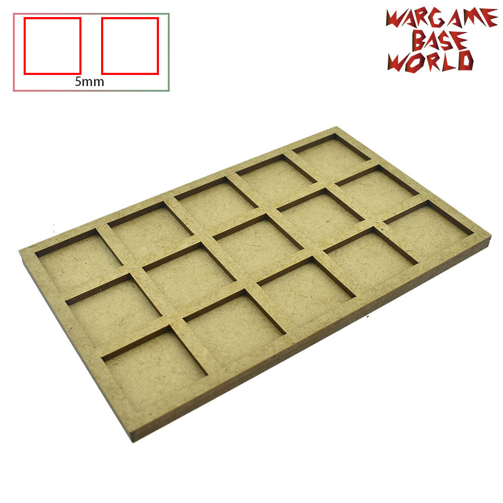 warhammer bases - Movement Tray for warhammer - 25mm square bases- 15 Models - tools - WargameBase Store