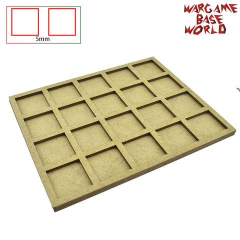 warhammer bases - Movement Tray - 25mm square bases- 20 Models - tools - WargameBase Store