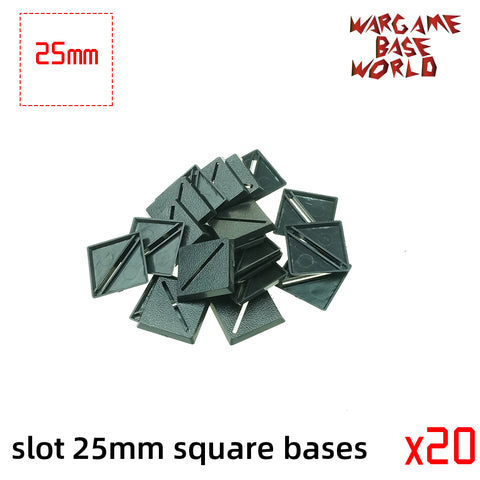 warhammer bases - Lot of 25mm square slot bases Miniature square bases for warhammer - Plastic wargame bases - WargameBase Store