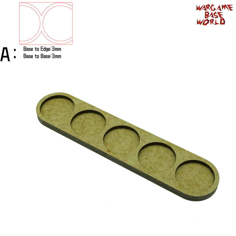 Movement Tray - 25mm round bases - 5 Model - WargameBase Store