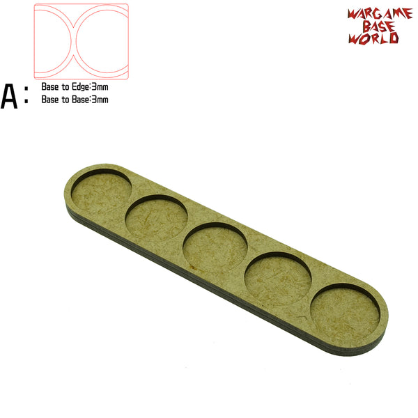 warhammer bases - Movement Tray - 25mm round bases - 5 Model - tools - WargameBase Store