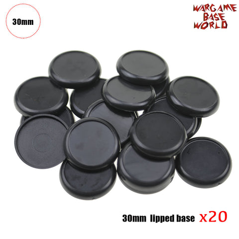 warhammer bases - Wargame Bases - 30mm Lipped bases - Plastic wargame bases - HeyyoucCast Workshop