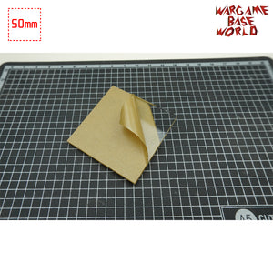 warhammer bases - 50mm Square Clear Bases TRANSPARENT / CLEAR BASES for Miniatures - Clear Bases - WargameBase Store