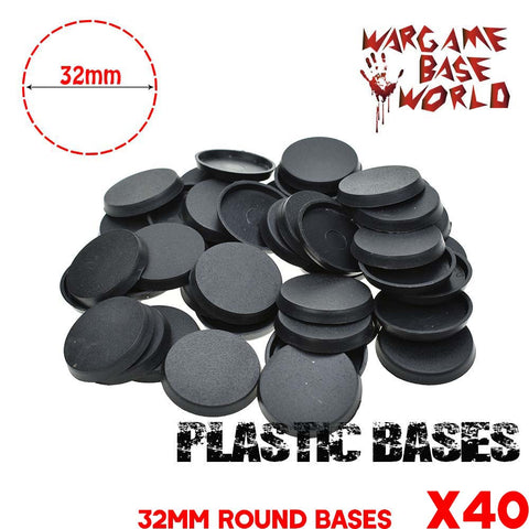 Wargame Base World - Lot of 40 32mm round bases - WargameBase Store