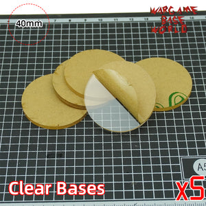 warhammer bases - 40mm round clear bases TRANSPARENT / CLEAR BASES for Miniatures - Clear Bases - WargameBase Store
