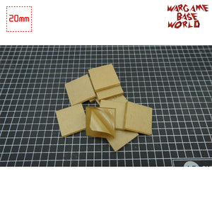 20mm Square Clear Bases TRANSPARENT / CLEAR BASES for Miniatures - WargameBase Store
