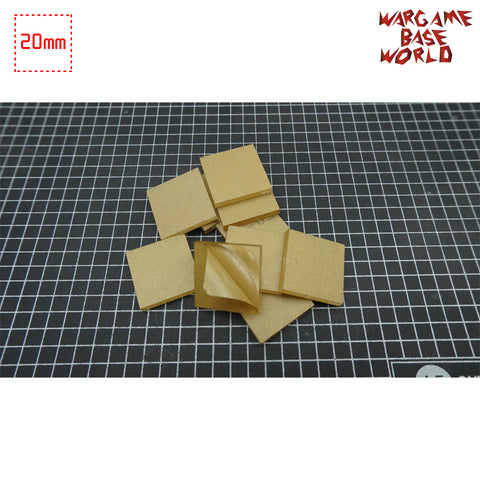 warhammer bases - 20mm Square Clear Bases TRANSPARENT / CLEAR BASES for Miniatures - Clear Bases - WargameBase Store