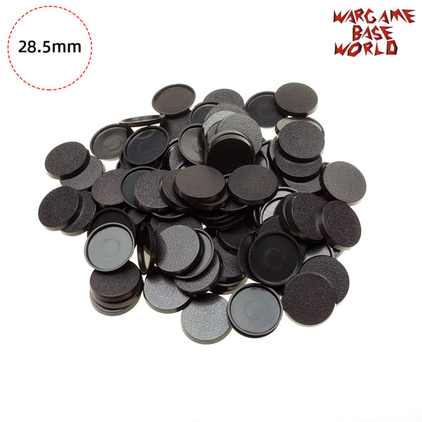 warhammer bases - Wargame Base World - Lot of 28.5 Round Warhammer Bases for Miniatures - Plastic wargame bases - WargameBase Store