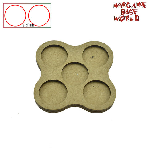 warhammer bases - Movement Tray for Warhammer  - 25mm round bases - 5 Model - tools - WargameBase Store