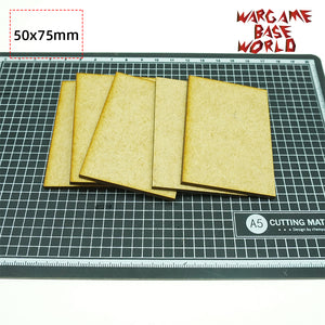 MDF bases - 50x75mm bases