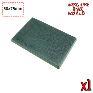 warhammer bases - Rectangle bases - 75x50mm rectangle bases - Plastic wargame bases - WargameBase Store