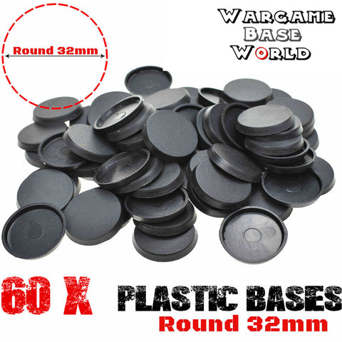 warhammer bases - Wargame Base World - Lot of 60 32mm bases for sale - Plastic wargame bases - HeyyoucCast Workshop