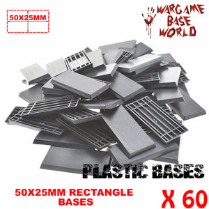 warhammer bases - Wargame Base World - Lot of 60 - 50x25mm rectangular plastic bases - Plastic wargame bases - HeyyoucCast Workshop