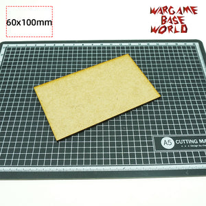 MDF bases - 60x100mm bases