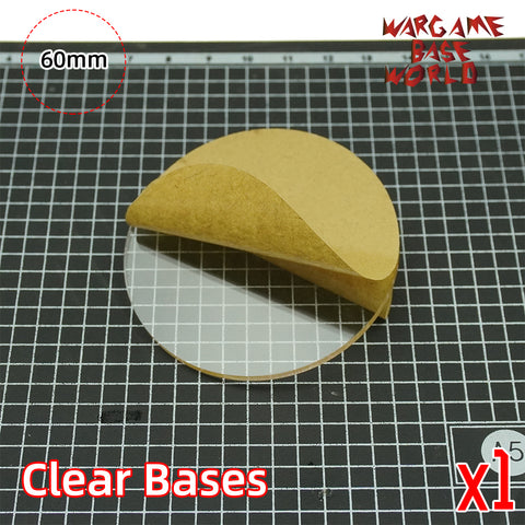 60mm round clear bases TRANSPARENT / CLEAR BASES for Miniatures