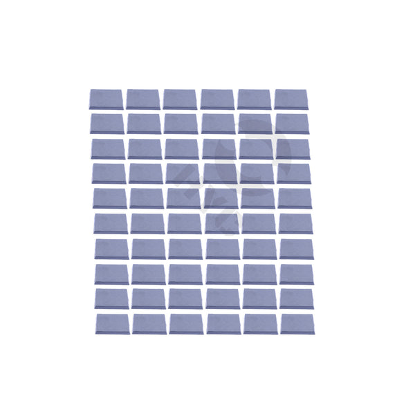 Lot of 60 40mm square bases - WargameBase Store