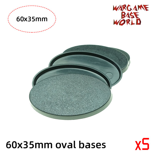 warhammer bases - Oval bases - 60x35mm oval bases. - Plastic wargame bases - WargameBase Store