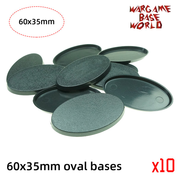 Oval bases - 60x35mm oval bases. - WargameBase Store