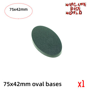 warhammer bases - Oval bases - 75x42mm oval bases - Plastic wargame bases - WargameBase Store