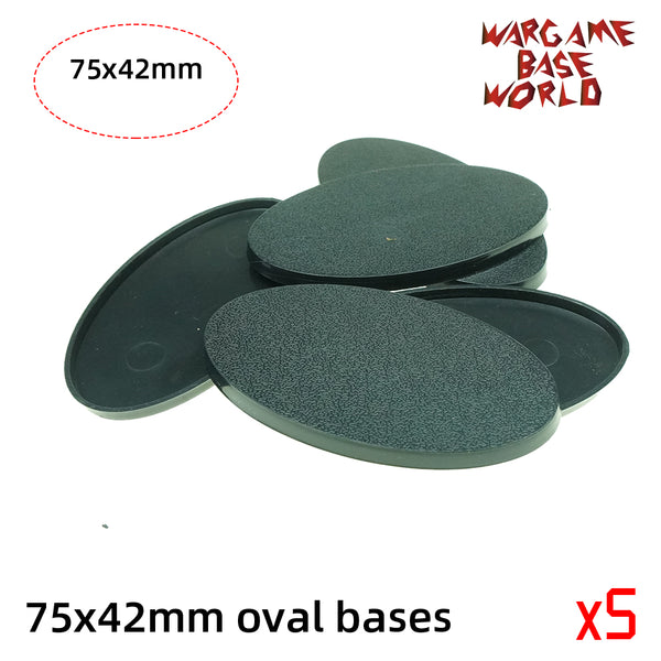 Oval bases - 75x42mm oval bases - WargameBase Store