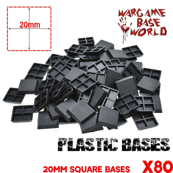 Lot of 80 20mm square bases - WargameBase Store