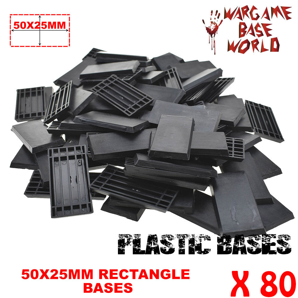 warhammer bases - Wargame Base World - Lot of 80 - 50x25mm rectangular plastic bases - Plastic wargame bases - HeyyoucCast Workshop