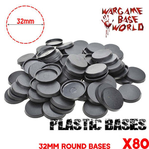 warhammer bases - Wargame Base World - Lot of 80 32mm bases for space marines miniatures - Plastic wargame bases - WargameBase Store
