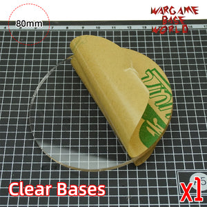 80mm Round Clear Bases TRANSPARENT / CLEAR BASES for Miniatures - WargameBase Store
