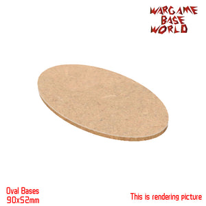 AOS Oval Bases - 90x52mm AOS MDF bases