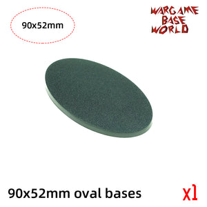 warhammer bases - Oval bases -90x52mm oval bases - Plastic wargame bases - WargameBase Store