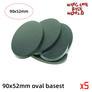 Oval bases -90x52mm oval bases - WargameBase Store