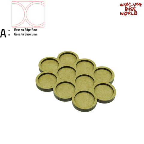 Movement Tray - 25mm round bases - 10 Model - WargameBase Store