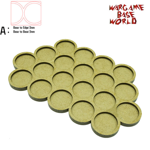 Movement Tray - 25mm round bases - 20 Model - WargameBase Store