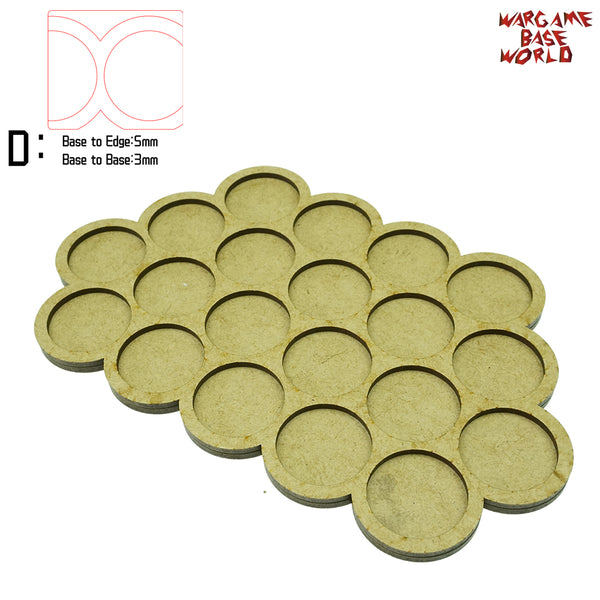 warhammer bases - Movement Tray - 32mm round bases - 20 Model - tools - WargameBase Store