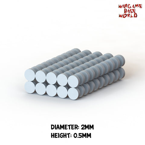 warhammer bases - Neodymium Magnets D2xH0.5mm - 100 units (N38) - Magnets - HeyyoucCast Workshop