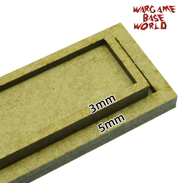warhammer bases - 25mm bases with 5mm edge - MDF wargame Movement Tray - movement tray - WargameBase Store