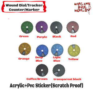warhammer bases - Wargame Base World - Wound Counter/Tracker/Dial/Marker 01-08 Wound Counter - 6 sets - Wound Counter - WargameBase Store