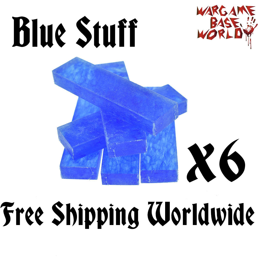 BLUE STUFF - 6 BARS - Make Reusable Plastic Clay for Mold Making - WargameBase Store