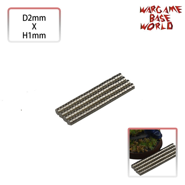 Neodymium Magnets D2xH1mm - 100 units (N38) - WargameBase Store