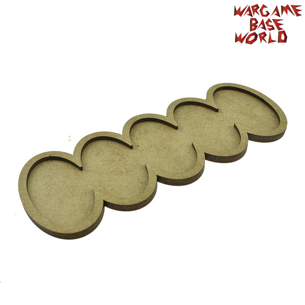 warhammer bases - AOS oval 60x35m bases - 3-6 Model - Movement Tray - tools - WargameBase Store