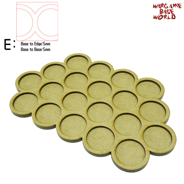 Movement Tray - 32mm round bases - 20 Model - WargameBase Store