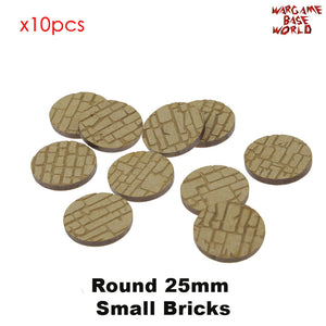 warhammer bases - MDF Texture Bases - 25mm - 40mm Small Bricks Texture bases - MDF Texture Bases - WargameBase Store