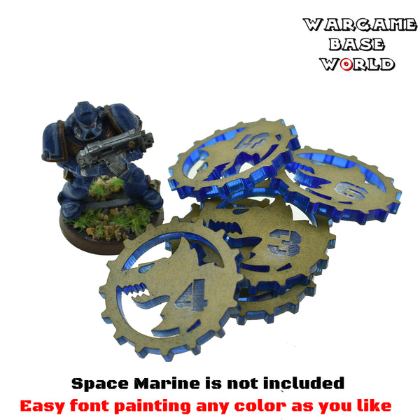 warhammer bases - Objective Makers for 40k- Space Wolves - Acrylic Objective Markers - Objective Marker - WargameBase Store